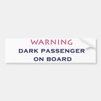 Dark Passenger bumper sticker 1