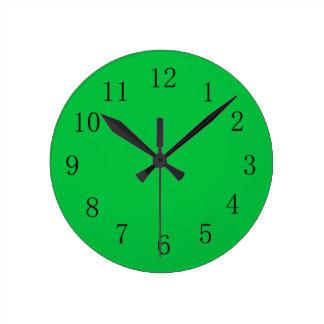 Dark Pastel Green Wall Clock