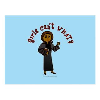 Dark Pastor Girl Post Cards