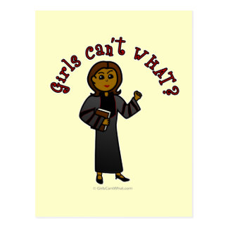 Dark Pastor Girl Postcard