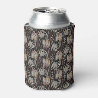 Dark pattern beautiful  Tulip florish design Can Cooler