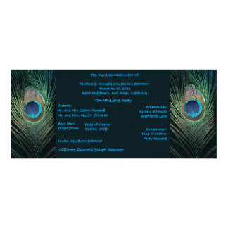 Dark Peacock Wedding Program