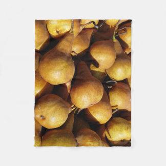 Dark Pears Fresh Fruit Photo Fleece Blanket