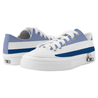 Dark Periwinkle White and Navy Lo-Top