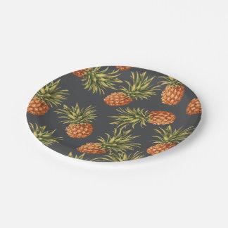 Dark Pineapple Paper Plates