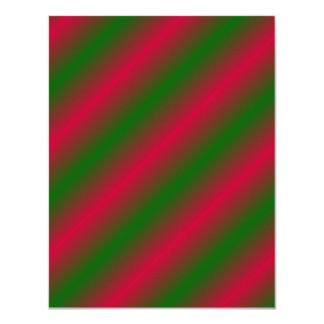 Dark Pink and Green Sideway Lines 11 Cm X 14 Cm Invitation Card