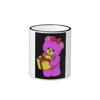 Dark Pink and Yellow Teddy Bear for Girls(2) Mug