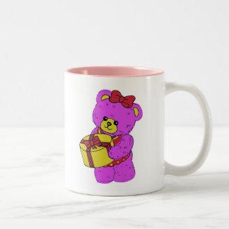 Dark Pink and Yellow Teddy Bear for Girls Mug