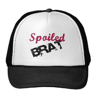 Dark Pink & Black Spoiled Brat Design Cap
