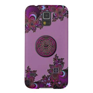 Dark Pink Celtic Fractal Samsung Galaxy S5 Case