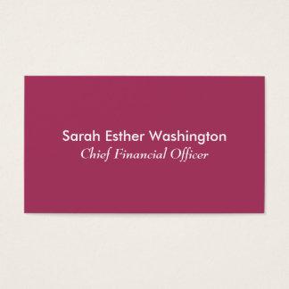 Dark Pink Color Business Card