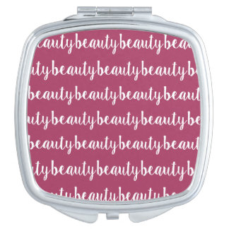 Dark Pink Color Makeup Mirror