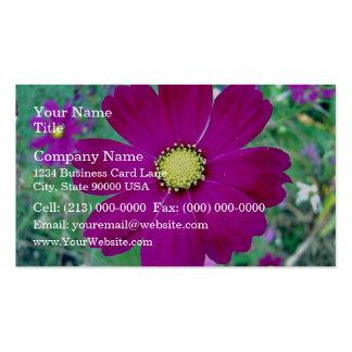 Dark Pink Cosmos flower Business Card