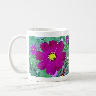 Dark Pink Cosmos flower Coffee Mugs