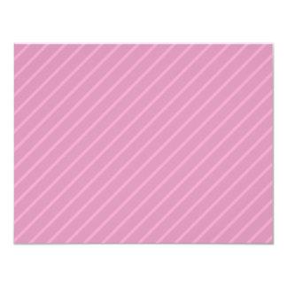 Dark Pink Diagonal Stripes. Pattern. 11 Cm X 14 Cm Invitation Card