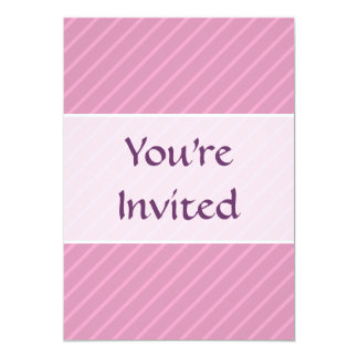 Dark Pink Diagonal Stripes. Pattern. 13 Cm X 18 Cm Invitation Card
