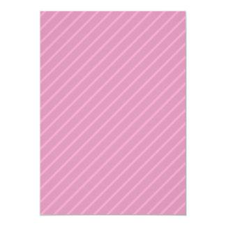 Dark Pink Diagonal Stripes. Pattern. 13 Cm X 18 Cm Invitation Card