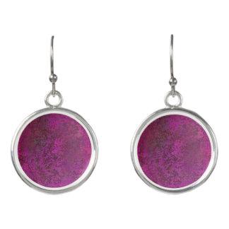 Dark Pink Earrings