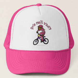 Dark Pink Girls BMX Trucker Hat