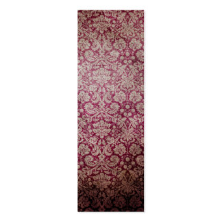 Dark pink grunge damask wallpaper business card templates