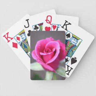 Dark Pink Mini Rose Playing Cards