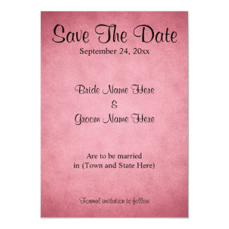 Dark Pink Mottled Pattern Wedding Save The Date 13 Cm X 18 Cm Invitation Card