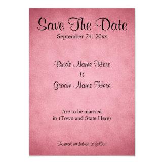 Dark Pink Mottled Pattern Wedding Save The Date 13 Cm X 18 Cm Invitation Card