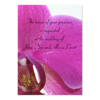 Dark Pink Orchids 13 Cm X 18 Cm Invitation Card