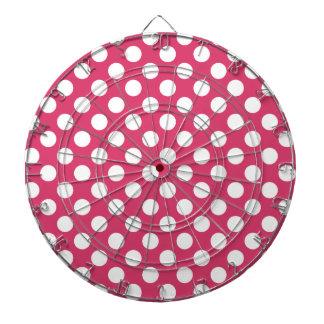 Dark Pink Polka Dots Dart Boards