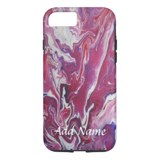 Dark Pink Purple Abstract iPhone case