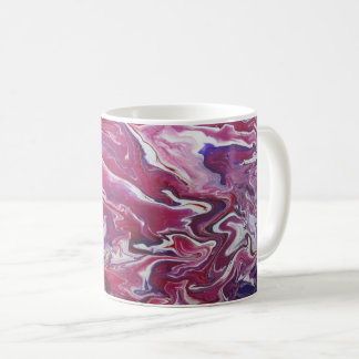 Dark Pink & Purple Abstract Mug