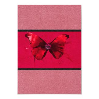Dark Pink-Red Invitation