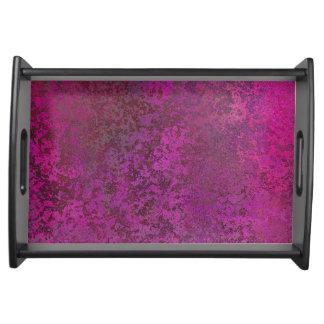 Dark Pink Serving Tray