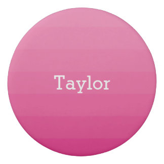 Dark Pink Shades Horizontal Stripes Youthful Eraser