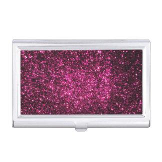 Dark Pink Sparkles Business Card Case
