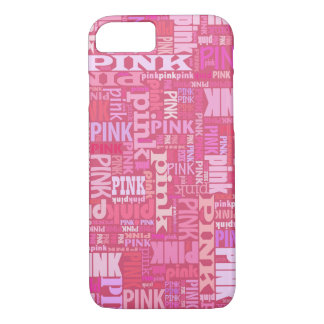 Dark pink text pattern for pink lovers iPhone 8/7 case