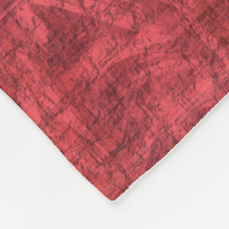 Dark Pink Textured Fleece Blanket