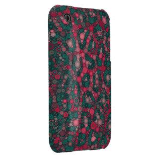 Dark Pink Turquoise Circle Cheetah iPhone 3 Cover