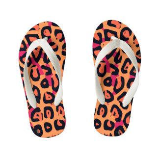 Dark Pink Yellow Orange Cheetah Abstract Thongs