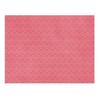 Dark Pink Zig Zag Pattern Background Postcards