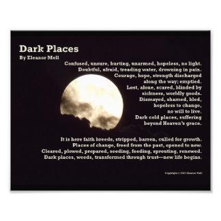 Dark Places – A Poem Art Photo