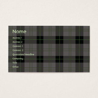 Dark Plaid - Business Business Card