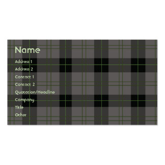 Dark Plaid - Business Pack Of Standard Business Cards