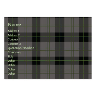 Dark Plaid - Chubby Pack Of Chubby Business Cards