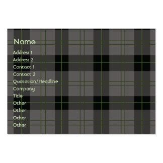 Dark Plaid - Chubby Pack Of Chubby Business Cards
