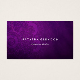 Dark Plum Purple Mandala Zen Business Card