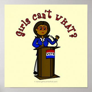 Dark Politician Girl Print