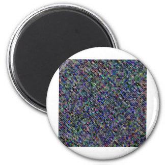 Dark Print 6 Cm Round Magnet