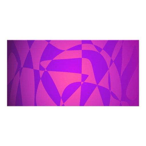 Dark Purple 2 Personalized Photo Card
