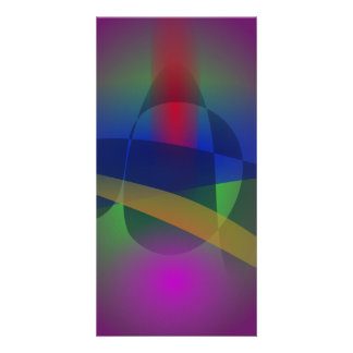 Dark Purple Abstract Photo Card Template